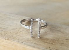 925 sterling silver ring  with clear by AtelierAdelaideFR on Etsy