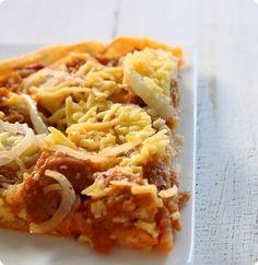 vegane Thunfisch-Pizza