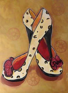 """""""Sassy - High Heel Shoes"""" by Julie Hollis. Paintings for Sale. Shoe Art, Art Shoes, London Poster, High Heels, Shoes Heels, Funny Phone Wallpaper, Quirky Art, Art Impressions, Color Pencil Art"""