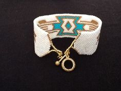 Peyote-Perlen-Armband - handgemachte Perlen Armband - Peyote Beaded Südwest Design