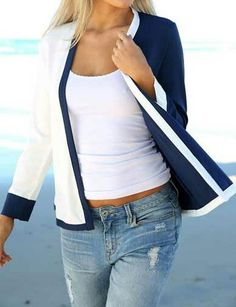 Item Type: Outerwear & Coats Outerwear Type: Jackets Material: Polyester Collar: V-Neck Model Number: Kimono Spring Women Jacket Color Block Cardigans Thin Jacket Coat Patchwork Long Sleeve chaquetas mujer Cardigans For Women, Coats For Women, Jackets For Women, Clothes For Women, Long Sleeve Kimono, White Long Sleeve, Work Casual, Casual Tops, Casual Summer
