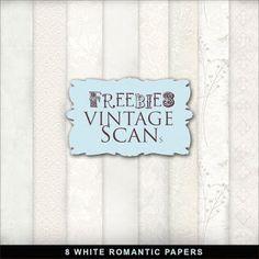 Far Far Hill: Freebies White Romantic Papers Kit