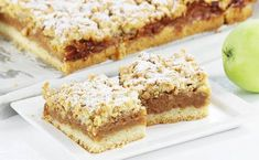 Szarlotka Sweet Desserts, No Bake Desserts, Dessert Recipes, Baking Recipes, Healthy Recipes, Banana Bread, Food And Drink, Sweets, Cooking