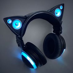 Cat Ear Headphones ❤ liked on Polyvore featuring accessories, tech accessories and cat ear headphones