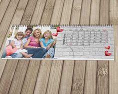 Un romantico calendario tutto da personalizzare