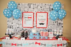 PARTY PRINTABLE Little Man Birthday Party Bow Tie Banner - Petite Party Studio. $6.00, via Etsy.