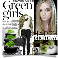 """Green girls...."" by lisamichele-cdxci on Polyvore  stylé !!!"