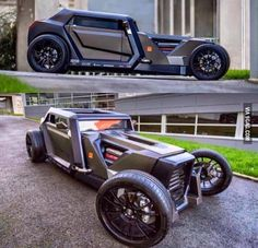 Vintage Cars Modern day hot rod - - More memes, funny videos and pics on Custom Muscle Cars, Custom Cars, Hot Rod Autos, Carros Audi, Sv 650, Automobile, Pt Cruiser, Weird Cars, Futuristic Cars