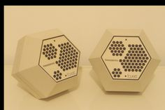 Tandberg Fasett Hexagonal speakers in white