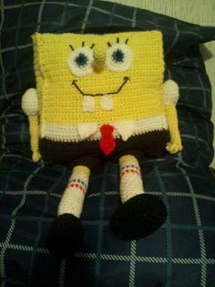 I finally finished crocheting Spongebob Square Pants