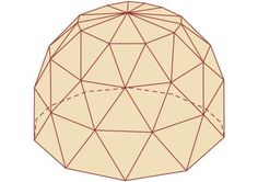 Illustration of Geodesic Dome - Drawing by Encyclopaedia Britannica/Universal Images Group/Getty Images (crop)