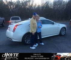 Congratulations Dean on your #Cadillac #CTS Coupe from Randy Hollingsworth at Hoyte Dodge RAM Chrysler Jeep!  https://deliverymaxx.com/DealerReviews.aspx?DealerCode=R491  #HoyteDodgeRAMChryslerJeep