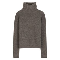 Puff Sleeve Pullover ❤ liked on Polyvore featuring tops, sweaters, brown pullover, ribbed top, puff sleeve sweaters, puff shoulder sweater and structured top