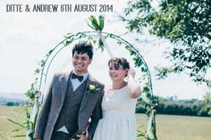 Ditte and Andrew's Vintage Inspired Homemade Barn Wedding. By Sarah Morris Photography