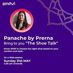 We bring to you - The Shoe Talk!  Get all your shoe questions answered by Prerna Pathare from  @panache_by_prerna, an incredible shoe designer making her mark with high heels.  Know how to choose the right shoe for yourself.  To register: Click on the link in our bio  #askpankhuri #pankhuribride #livestreaming #livesession #webinar #webstagram #shoe #shoesaddict #shoes #shoetalk #buyshoes #shoes #highheels #heels #wedges #stilletos #jutti #flats #flipflops #bridesofindia #shoeofinstagram… Choose The Right, Bring It On, Buy Shoes, Your Style, High Heels, Wedges, The Incredibles, Flats, This Or That Questions
