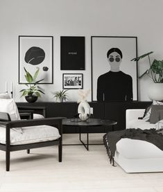 White House Interior, White Interior Design, Beautiful Interior Design, Living Room Interior, Living Room Decor, Interior Ideas, Nordic Living Room, Beige Living Rooms, Black And White Living Room