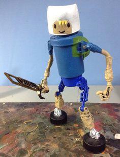 assemblage robot boy finn by Valerobots on Etsy