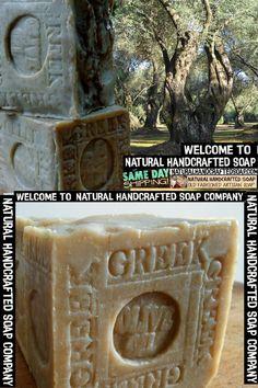 Handmade Soap Grandma's Natural Handcrafted Organic Soap Natural Handmade Artisan - Skin Care Benefits Eczema Soap. Decorative Soaps, Greek Olives, Olive Oil Soap, Pure Oils, Soap Company, Organic Soap, Handmade Soaps, Hand Stamped, Brazil