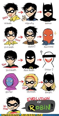 Gotta keep your Robins straight I only have eyes for Dick (god that sounds bad!)