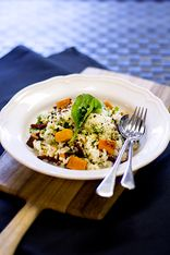 Roast Pumpkin, Spinach, Semi-Dried Tomato and Pine Nut Risotto
