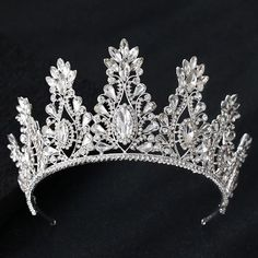 Silver Tiara, Silver Headband, Crown Headband, Hair Accessories For Women, Wedding Hair Accessories, Jewelry Accessories, Winx Club, Rhinestone Wedding, Crystal Wedding