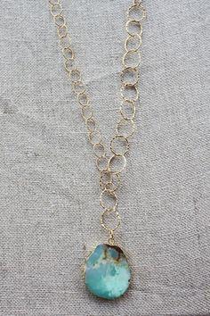 B. Alli Agate Stone Y Necklace