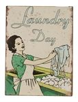This is a picture of Vintage 'Laundry Day' Retro Sign