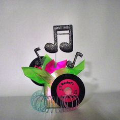 Rock'n Fifties Centerpiece - personalized with a lighted base.
