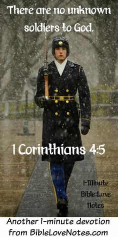 This devotion encourages us about unknown soldiers, unknown Christians, and folks who just feel unknown. Bible Quotes, Bible Verses, Scriptures, Christian Faith, Christian Quotes, Christian Warrior, American Soldiers, American Flag, Native American