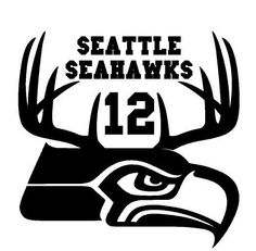 Seattle Seahawks Superbowl Decal Hunting Antler Truck Window Sticker Diecut 12th