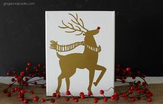 DIY Oh Deer! Canvas {tutorial}