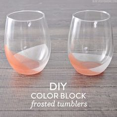 Best DIY Gifts for Girls - DIY Color Block Frosted Tumblers - Cute Crafts and DIY Projects that Make Cool DYI Gift Ideas for Young and Older Girls, Teens and Teenagers - Awesome Room and Home Decor for Bedroom, Fashion, Jewelry and Hair Accessories - Cheap Craft Projects To Make For a Girl for Christmas Presents http://diyjoy.com/diy-gifts-for-girls