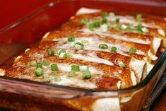chicken enchiladas from america's test kitchen. hello, sunday dinner.