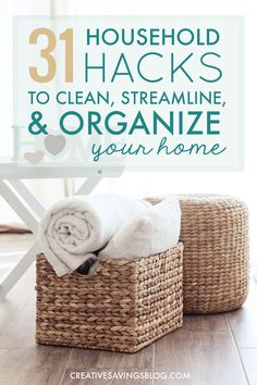 How did I not know about these?? The housework is piling up faster than I can keep up with, and these household hacks include the best tips I've seen to streamline and organize everything. I can't wait to implement some of them this weekend!