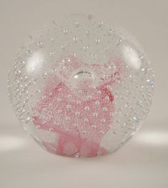 Caithness Glass PAPERWEIGHT Pink Champagne F67011 by MSMUnlimited