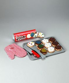 Our set is well loved. Take a look at this Slice & Bake Cookie Set by Melissa & Doug on #zulily today!