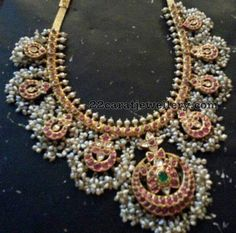 Large Guttapusalu Set Make to Order in Silver Indian Wedding Jewelry, Bridal Jewelry, Gold Jewelry, Jewelery, Ruby Jewelry, Gold Bangles, Indian Bridal, Antique Jewelry, Fine Jewelry