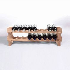 18-Bottle Stackable Natural Wine Rack Kit - 17212900 - Overstock.com Shopping - Great Deals on Wine Enthusiast Wine Racks