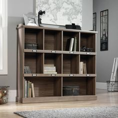 Wood Rustic Bookcase Lawyer Office Organizer Home Bookshelf Storage Furniture  #WoodRusticBookcase