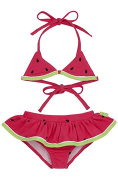 Watermelon Skirted Bikini, Kids Clothes at Le Top // so cute!!!