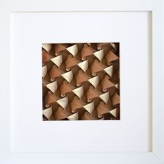 Painted and framed #origami #tessellation