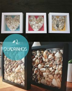 Dá para fazer: belas ideias com conchas do mar | Mulher Vitrola Sea Glass Crafts, Seashell Crafts, Decor Crafts, Diy Home Decor, Diy And Crafts, Sand Dollar Art, Fun Projects For Kids, Beach Wall Decor, Ideias Diy