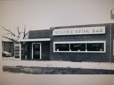 Vintage picture of the Silver Spur Bar in Fort Pierre, SD  Note the old hotel is still next to it in this picture.