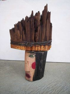 Hey, I found this really awesome Etsy listing at https://www.etsy.com/listing/167952956/wooden-head-of-warrior-modern-standing