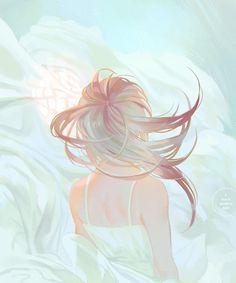 e-shuushuu kawaii and moe anime image board Anime Art Girl, Manga Girl, Aesthetic Art, Aesthetic Anime, Fantasy Kunst, Fantasy Art, Arte Indie, Beautiful Artwork, Art Inspo