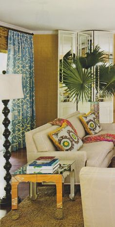 The Glam Pad: Retro Island Glam.... Curtains'