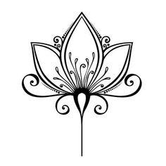 Belle fleur d�corative vecteur, conception model�e