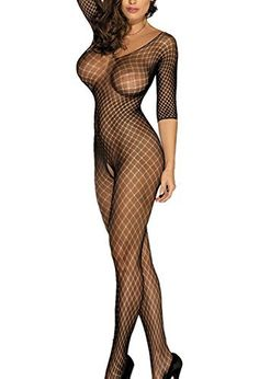 New Trending Bodysuits: U-Story Women Sexy Lingerie Open Crotch Sleeves Bodystocking Sleepwear Tights, One Size. U-Story Women Sexy Lingerie Open Crotch Sleeves Bodystocking Sleepwear Tights, One Size Special Offer: $9.99 244 Reviews Specifications: Material: 90% Nylon, 10% Spandex Color: Black Size: One size Pattern: Fence Pattern Open Crotch, Sleeves Garment Care: Hand wash in cold water, dry...