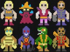 Lair of the Dork Horde: Lite Brite Brutes Lite Brite, Intarsia Knitting, Knitting Charts, Perler Bead Templates, Perler Patterns, Rainbow Brite, Rainbow Loom, Perler Beads, Hero Crafts