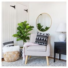 Scandinavian Chair and Décor Living Room Nook - Threshold™ : Target